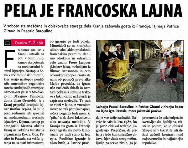 orgue de Barbarie - en Slovénie