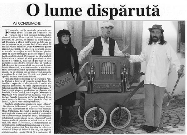 orgue de Barbarie - en Roumanie