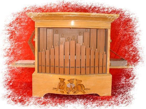 orgue de Barbarie pneumatique 29 touches à flûtes